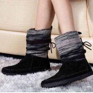 TOMS Black Nepal Jacquard Boots